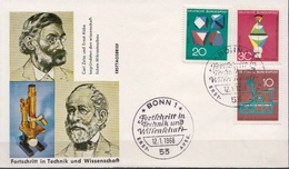 Germany Set On FDC From 1968 - Sciences