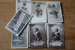 Lot De 20 Cartes Postales Anciennes Dite Fantaisie Belle Serie    Lot 3 - Fantaisies
