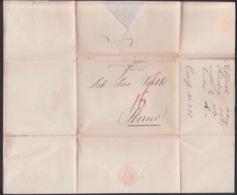 Nürnberg 1815, Faltbrief Mit Rötelvermerk Nach Steyr Österreich, Viel Text, Papiersiegel JGH Helferich - Germania