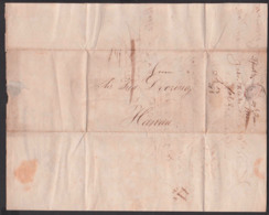 Frankfurt / Main Nach Hanau Faltbrief 1815 Mit Viel Text, - Germania