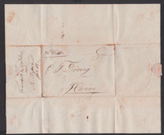 Frankfurt / Main Nach Hanau Faltbrief 1815 Mit Viel Text, Fürth - Germania