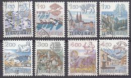 HELVETIA - SUISSE - SVIZZERA - Segni Zodiacali - 8 Valori Usati: Yvert 1156, 1157, 1159, 1171, 1193/1195 E 1218 - Svizzera