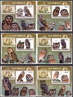 A{120} Comoros 2009 Birds Owls 6 S/S Deluxe MNH** - Comores (1975-...)