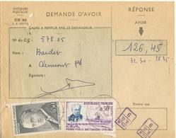 TARIF RARE- 30C BOURDET 50C BRETONNEAU TARIF 80C NOTIFICATION D'AVOIR 25/08/62 - Marcophilie (Lettres)