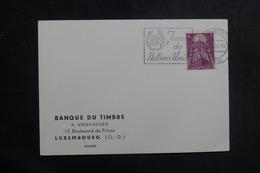 LUXEMBOURG - Carte De La Banque Du Timbre En 1958, Affranchissement Europa, Oblitération Plaisante - L 39893 - Luxemburg