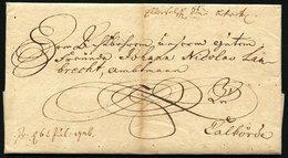 VORPHILABRIEF AUS WOLFENBÜTTEL 1726 NACH CALFÖRDE, RÖTELSTRICHE,WZ-PAPIER - Germany