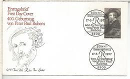 ALEMANIA FDC 1977 RUBENS ARTE PINTURA - Rubens