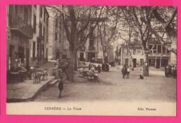 CPA  (Ref: Z2205) CERBERE  (66  PYRÉNÉES-ORIENTALES) La Place (café) - Cerbere