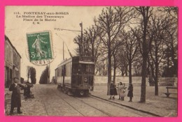 CPA  (Ref: Z2217) FONTENAY-AUX-ROSES (92 HAUTS DE SEINE) La Station Des Tramway Place De La Mairie - Fontenay Aux Roses