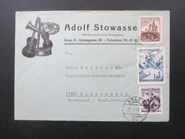 Österreich 1961 Schöner Firmenumschlag Adolf Stowasser Musikinstrumenten Erzeugung Graz. Thematik Musik / Instrumente - 1945-.... 2. Republik
