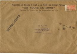 60C MERCURE TARIF IMPRIME URGENT 3ème ECHELON 1939 - RARE - Marcophilie (Lettres)