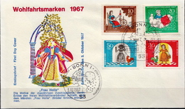 Germany Set On FDC From 1967 - Fairy Tales, Popular Stories & Legends