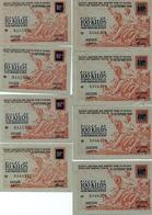 8 BILLETS 10 KG ET 100 KG -O.C.R.P.I-SECTION FONTES FERS ET ACIERS - ANNEE 1948 - Bonos