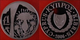 + POLAND: CYPRUS ★ 1 LIRA 2006 RARE!!! FLOWER! PROOF! LOW START ★ NO RESERVE! - Cyprus