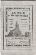 62  Bruay-la-Buissière - LA VOIX De Saint-Joseph  BULLETIN MENSUEL De 1936 - 24pages + 1 PHOTO Format 17x12,5 Cm - France