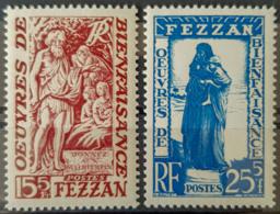 FEZZAN - MNH - YT 54, 55 - 15+5c 25+5c - Fezzan (1943-1951)