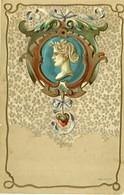 BEAU MEDAILLON  - CARTE GAUFREE - - 1900-1949