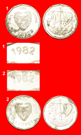 + SHIP: CYPRUS  ★ 5 MILS 1982 BOTH KNOWN VARIETIES DISCOVERY COINS! LOW START ★ NO RESERVE! - Zypern
