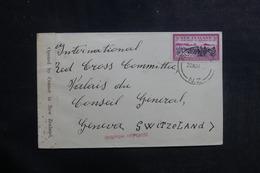 NOUVELLE ZÉLANDE - Enveloppe Pour La Croix Rouge De Genève Avec Contrôle Postal - L 39917 - 1907-1947 Dominion