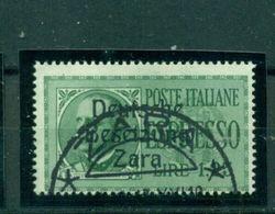 Zara, Aufdruck Auf Italienischen Marken, Nr. 37 Gestempelt - Besetzungen 1938-45
