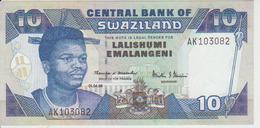 Swaziland 10 Lamabili 1998 Pick 24c UNC - Swaziland