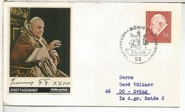 ALEMANIA FDC 1969 RELIGION PAPA JUAN XXIII - Papas