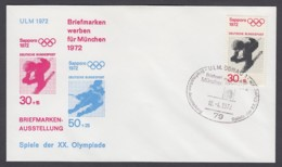 Germany-BRD - Sonderkuvert-Beleg - Briefmarken Werben Für München - Olympiade 72 - MiNr. 686 - SSt. Ulm-Donau - Summer 1972: Munich