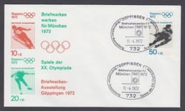 Germany-BRD - Sonderkuvert-Beleg - Briefmarken Werben Für München - Olympiade 72 - MiNr. 687 - SSt. Göppingen - Summer 1972: Munich