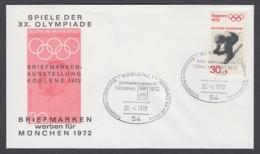 Germany-BRD - Sonderkuvert-Beleg - Briefmarken Werben Für München - Olympiade 72 - MiNr. 686 - SSt. Koblenz - Summer 1972: Munich