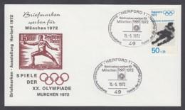 Germany-BRD - Sonderkuvert-Beleg - Briefmarken Werben Für München - Olympiade 72 - MiNr. 687 - SSt. Herford - Summer 1972: Munich