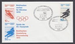 Germany-BRD - Sonderkuvert-Beleg - Briefmarken Werben Für München - Olympiade 72 - MiNr. 687 - SSt. Braunschweig - Summer 1972: Munich