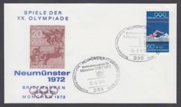 Germany-BRD - Sonderkuvert-Beleg - Briefmarken Werben Für München - Olympiade 72 - MiNr. 722 - SSt. Neumünster - Summer 1972: Munich
