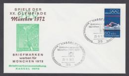 Germany-BRD - Sonderkuvert-Beleg - Briefmarken Werben Für München - Olympiade 72 - MiNr. 722 - SSt. Kassel - Summer 1972: Munich