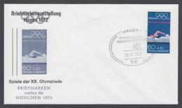 Germany-BRD - Sonderkuvert-Beleg - Briefmarken Werben Für München - Olympiade 72 - MiNr. 722 - SSt. Hagen - Summer 1972: Munich