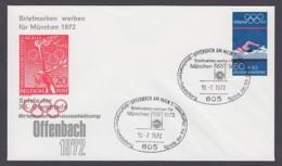 Germany-BRD - Sonderkuvert-Beleg - Briefmarken Werben Für München - Olympiade 72 - MiNr. 722 - SSt. Offenbach - Summer 1972: Munich