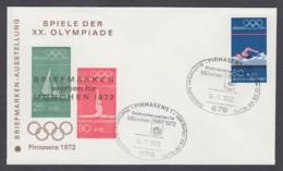 Germany-BRD - Sonderkuvert-Beleg - Briefmarken Werben Für München - Olympiade 72 - MiNr. 722 - SSt. Pirmasens - Summer 1972: Munich