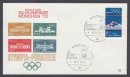 Germany-BRD - Sonderkuvert-Beleg - Olympiade-Philatelie - Olympiade 72 - MiNr. 722 - SSt. München - Summer 1972: Munich