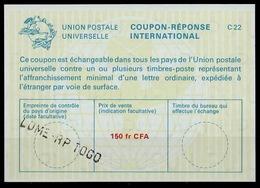 TOGO  La22A  150 Fr CFA   International Reply Coupon Reponse Antwortschein IAS IRC O LOME RP TOGO - Togo (1960-...)