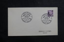 DANEMARK - Oblitération  Temporaire Sur Enveloppe En 1960, Affranchissement Plaisant ( Surchargé ) - L 39923 - Danemark