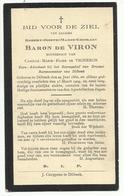 DP - Mortuaire Robert-Joseph-Marie-Ghislain Baron De VIRON - Dilbeek 1860 - 1929 - Religion & Esotérisme