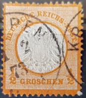 DEUTSCHES REICH - Canceled - Mi 18 - 1/2g Grosses Brustschild - Alemania