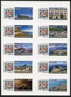 GIBRALTAR (2017). Sheet Of 10 Mint Stamps - SWISS POST INTERNATIONAL - Tourist Mail - Gibraltar