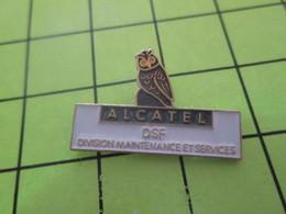 414a Pin's Pins / Beau Et Rare : Thème ANIMAUX / CHOUETTE HIBOU ALCATEL DSF DIVISION MAINTENANCE ET SERVICES - Animaux