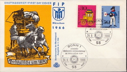 Germany Set On FDC From 1966 - Post
