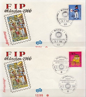 Germany Set On 2 FDCs From 1966 - Post