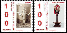 Suisse Helvetia 2362/63 Arts, Dadaisme, Littérature, Peinture Etc... - Writers