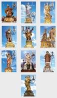 H01 Malta  Maltese Festa Series III 2019 Maxi Cards Festa 2019 Ws 85 94 Set X 10 - Malta (Orden Von)
