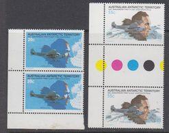 AAT 1980 First Flight Over South Pole 2v (2x) ** Mnh (44291A) - Australisch Antarctisch Territorium (AAT)