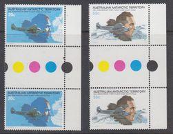 AAT 1980 First Flight Over South Pole 2v Gutter Pair ** Mnh (44291B) - Australisch Antarctisch Territorium (AAT)