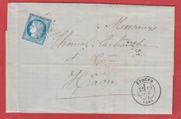 Marne - Etoges - GC 1440 Sur Type Cérès - LAC 1872 - Marcophilie (Lettres)